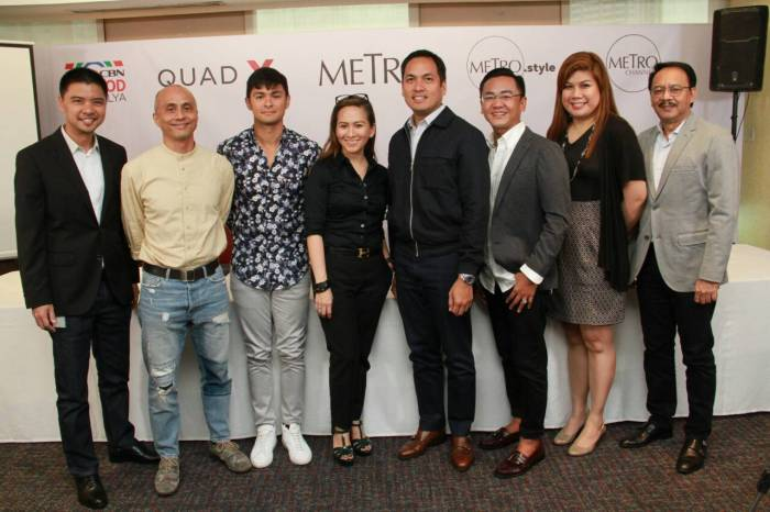 (1) Mark Yambot, Ernie Lopez, Matteo Guidicelli, Mia Bulatao, Paolo Pineda, James Loverio, Josine Reyes, and Jun Dungo